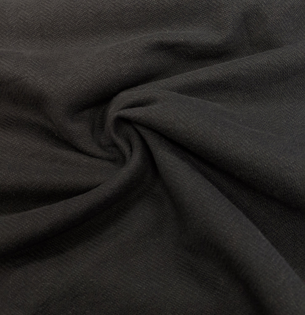 Herringbone Cotton Woven, Black