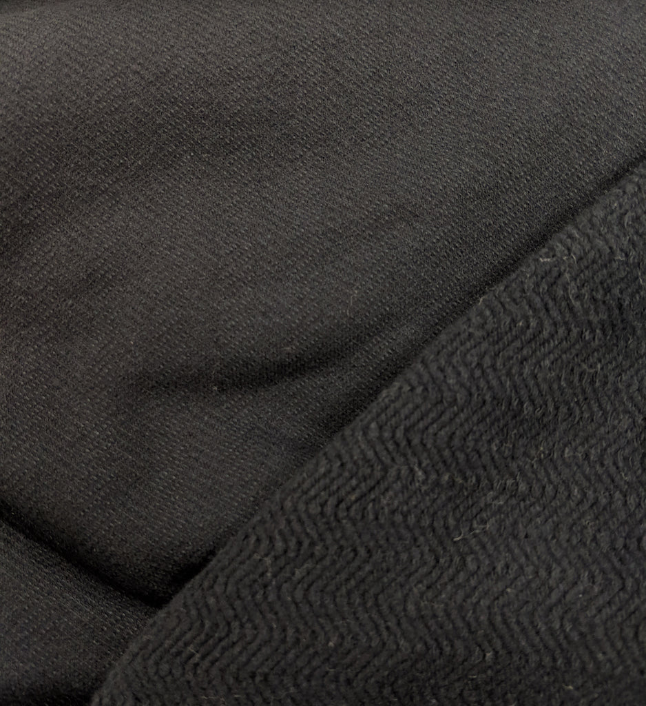 Herringbone Cotton Knit, Black