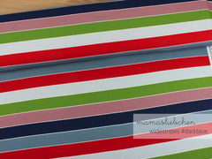 Mamasliebchen: Widestripes in Dark Blue (Jersey)
