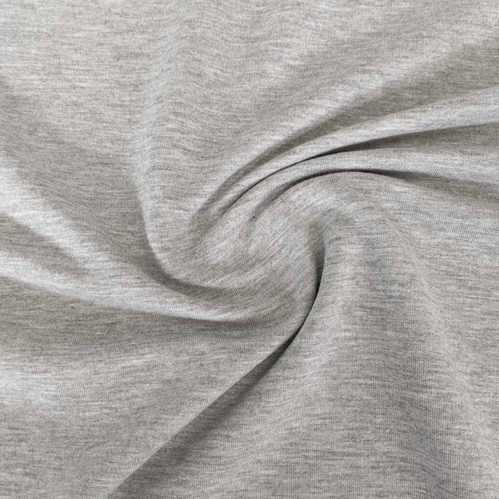 Bamboo & Cotton Stretch Fleece - Cloud