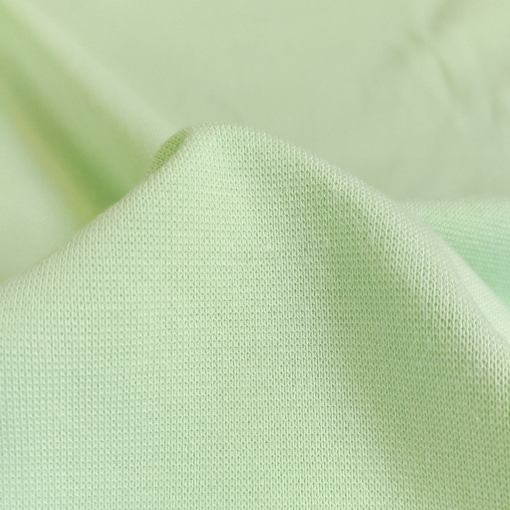 Pastel Green Organic Cotton Ribbing