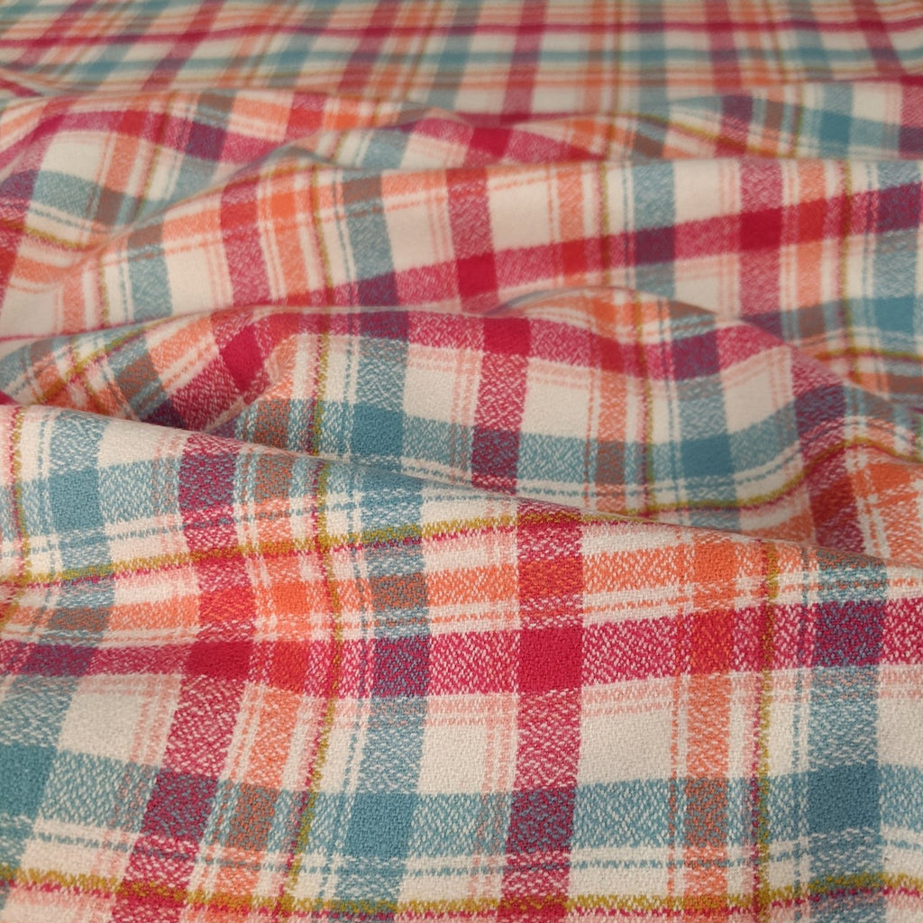 Mammoth Junior Plaid Cotton Flannel - Nectarine
