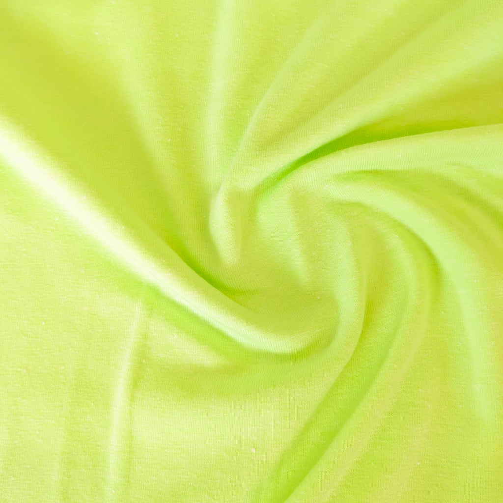 Neon Melange Cotton Jersey - Shock Yellow