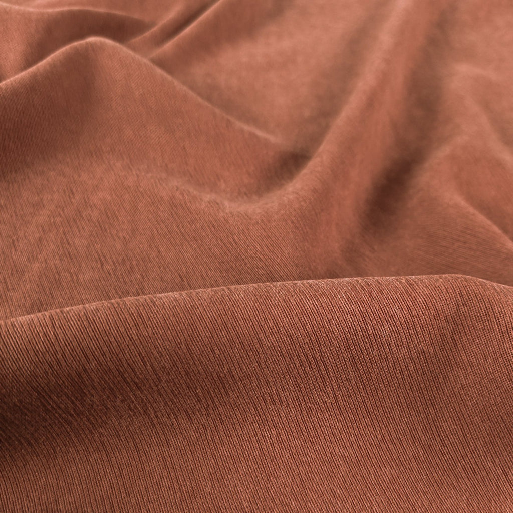 Textured Lyocell Viscose - Chestnut