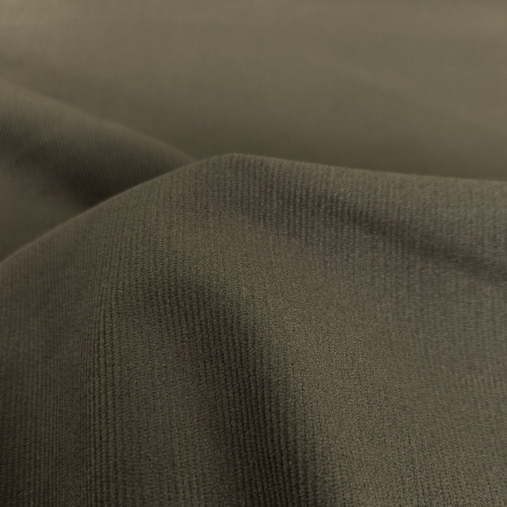 Fine Wale Stretch Cotton Corduroy - Deep Olive