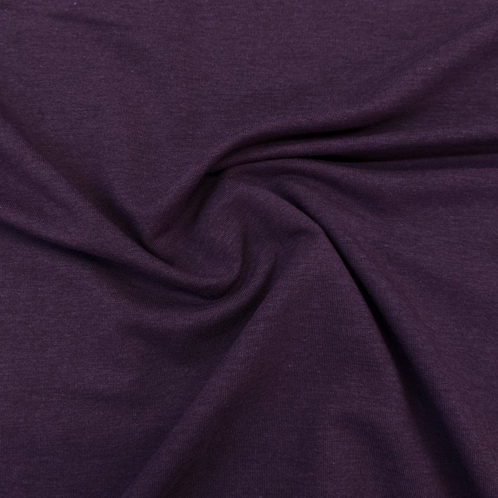 Lyocell & Organic Cotton French Terry - Plum