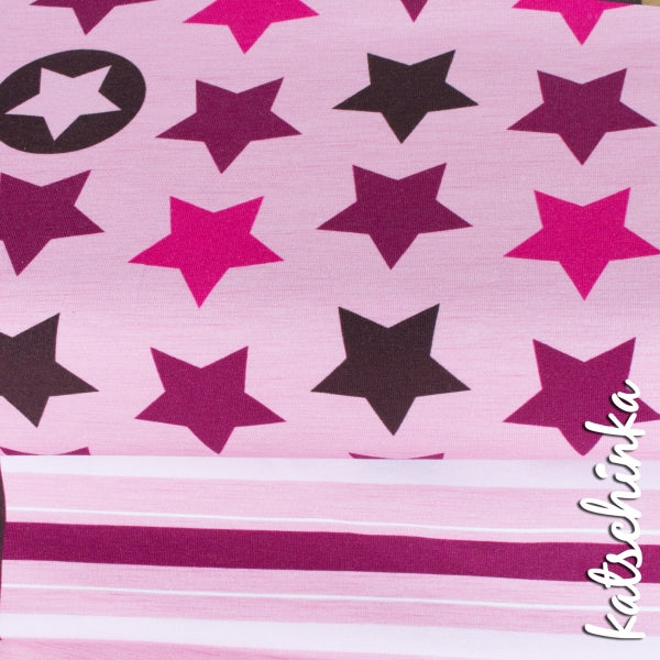 Katschinka: Stars and Stripes Organic Jersey, Pink