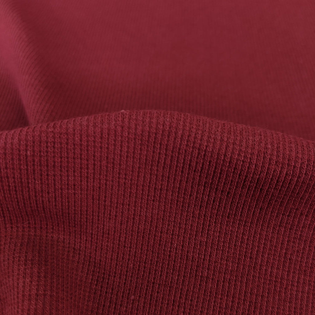 Bamboo & Cotton Stretch Fleece Coordinating Ribbing - Scarlet
