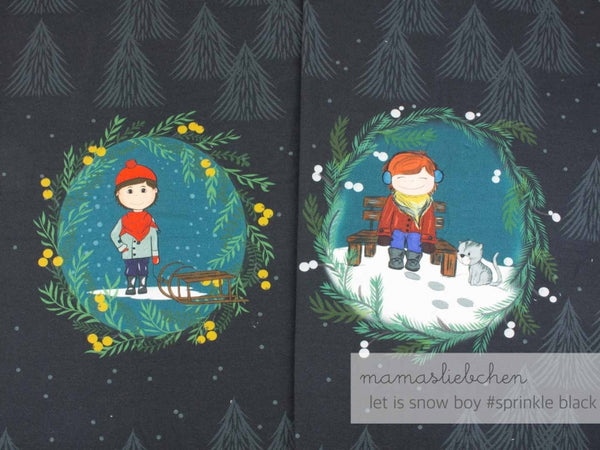 Mamasliebchen: In The Snow Panel - Sprinkle Black (Boy)