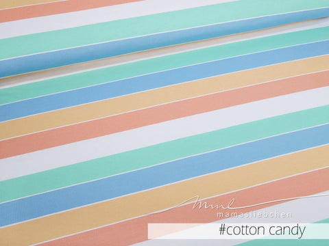 Mamasliebchen: Widestripes Stretch French Terry, Cotton Candy