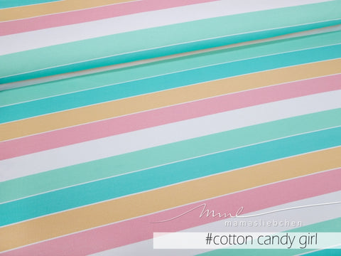 Mamasliebchen: Widestripes Stretch French Terry, Cotton Candy Girl