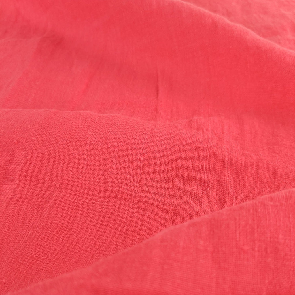 Lightweight Washed Linen - Strawberry Shortcake