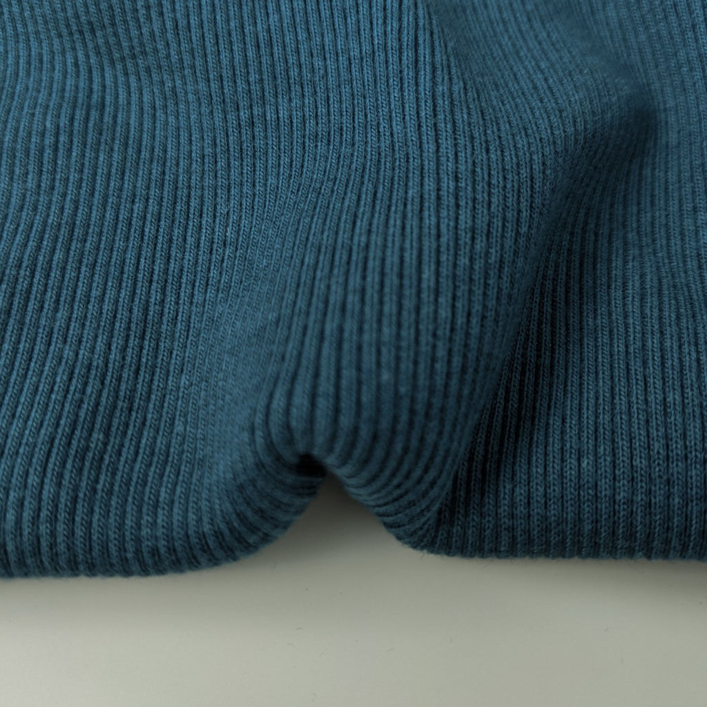 Bamboo & Cotton Sweatshirt Fleece Coordinating Ribbing - Teal
