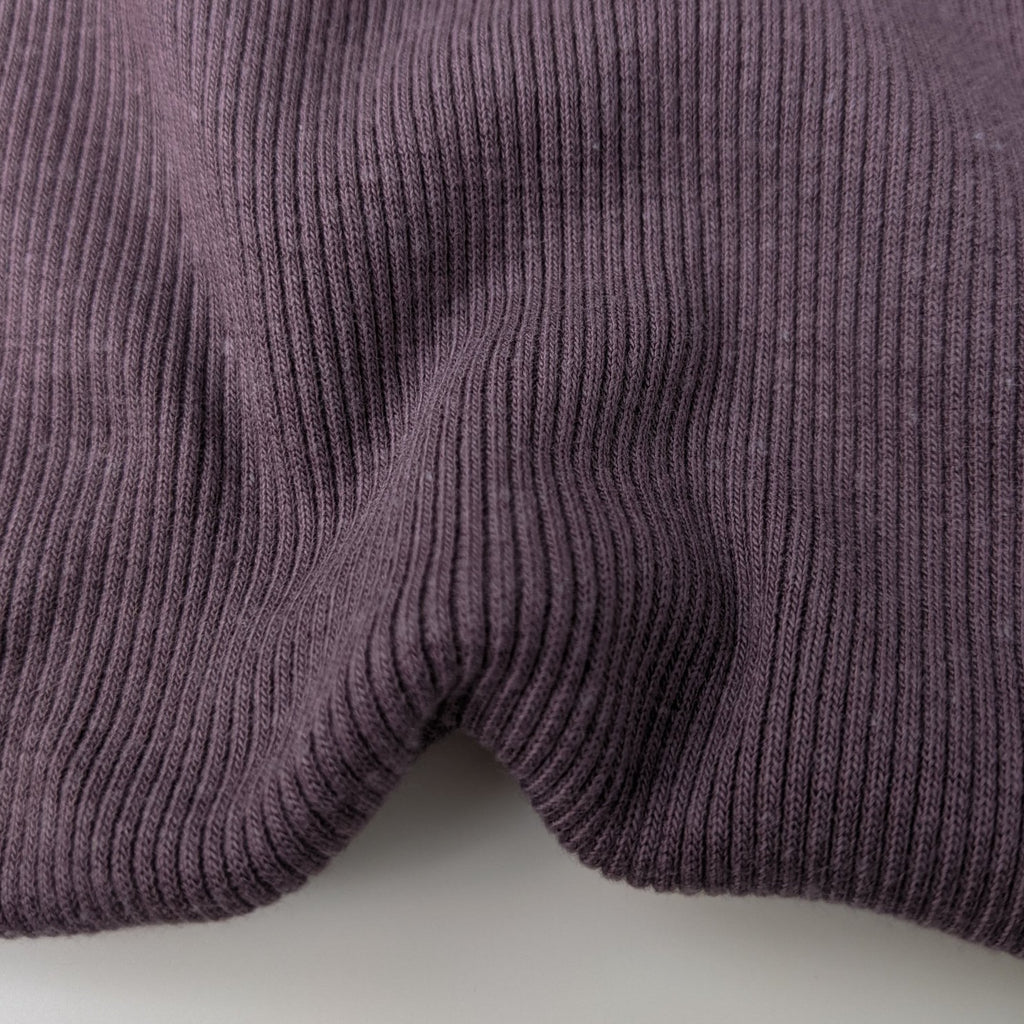 Bamboo & Cotton Sweatshirt Fleece Coordinating Ribbing - Thistle