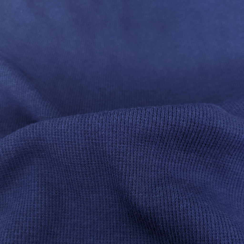 Bamboo & Cotton Stretch Fleece Coordinating Ribbing - Bluejay