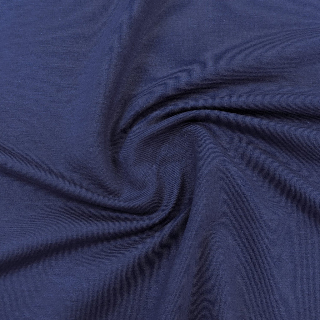 Bamboo & Cotton Stretch Fleece - Blue Jay