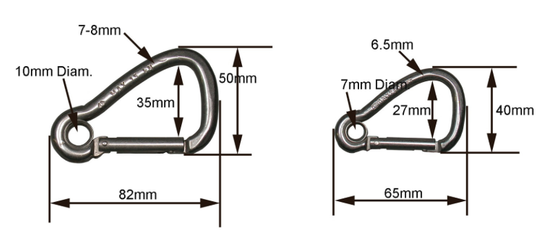 North Water Stainless Steel Carabiners