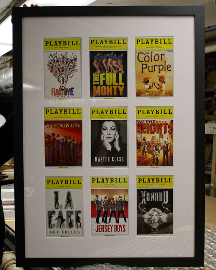 The Custom Framing Process: A Playbill Extravaganza! – Foursided