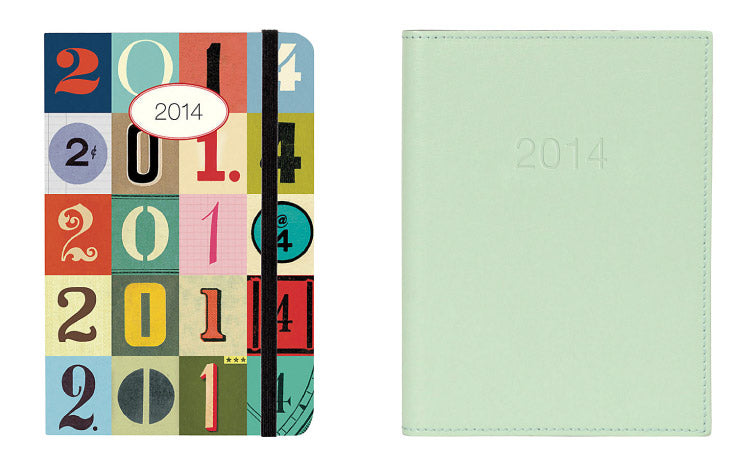 Numbers Planner + Mint Leather Planner | Foursided