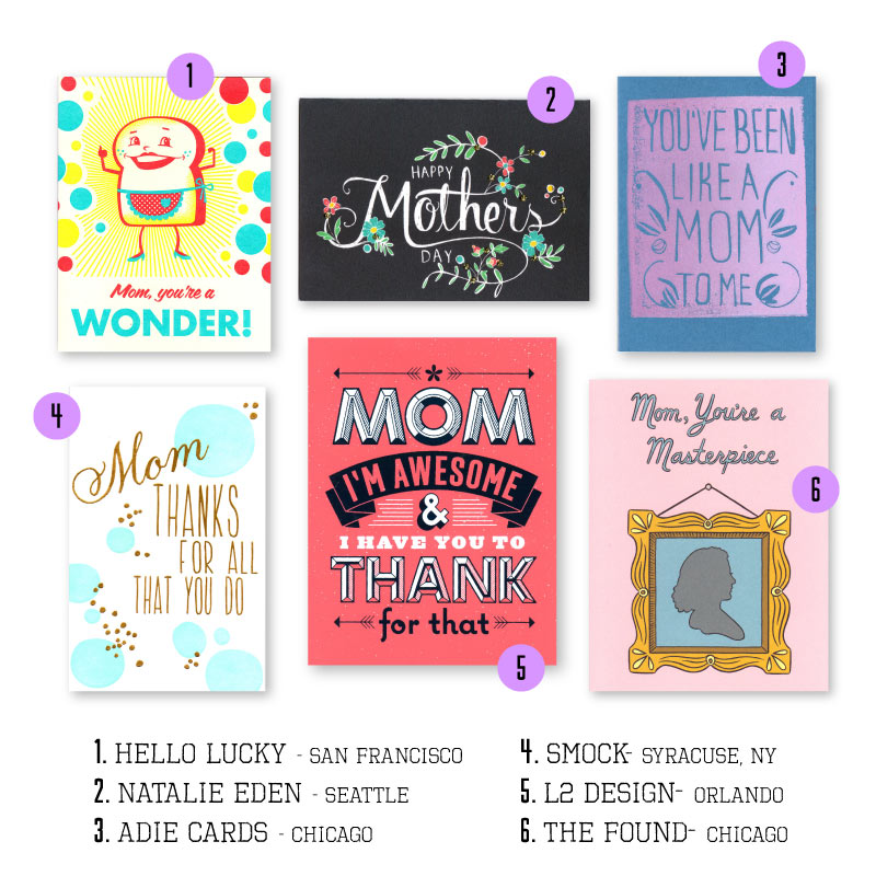 A few of our favorite Mother's Day Cards