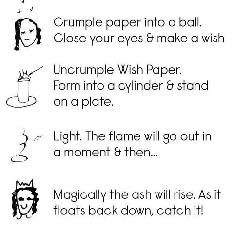 How to light your wish paper (with illustrations for visual learners)