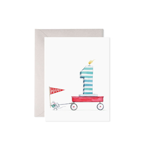 1st Birthday Mouse Card