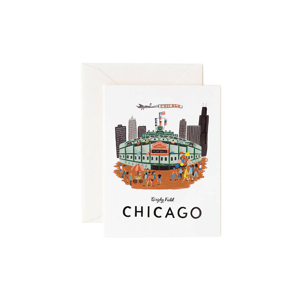 Wrigley Card - Boxed Set of 8 Rifle Paper Co. - Foursided