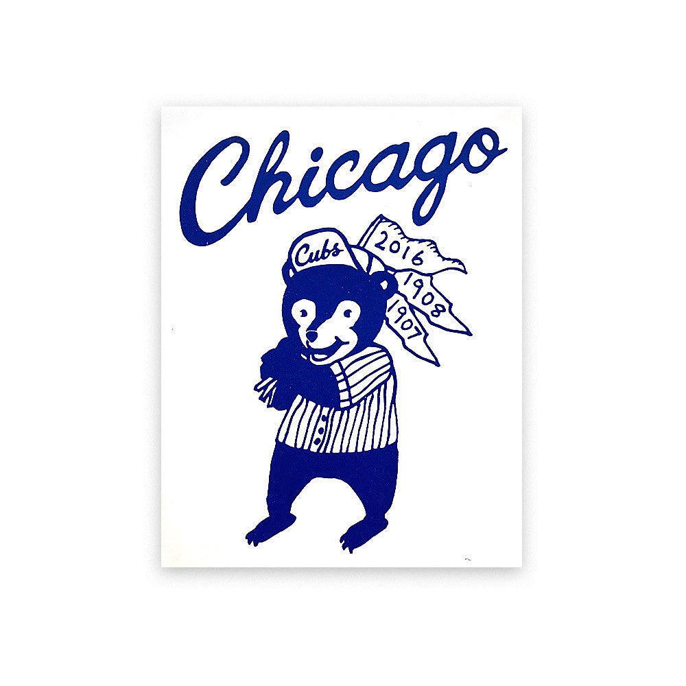 Cubs Bear Print Cutler - Foursided