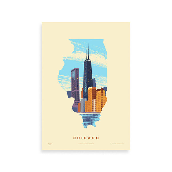 Chicago Print Family Tree - Foursided