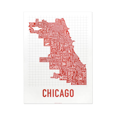 Chicago Neighborhoods Print (multiple colors)