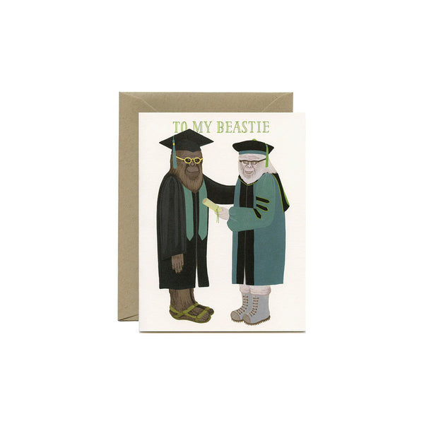 Beastie Graduation Card Yeppie Paper - Foursided