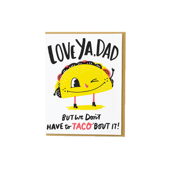 Taco Dad Card Hello Lucky - Foursided