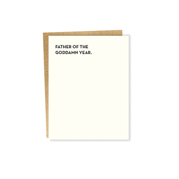 Father of the Goddamn Year Card Sapling Press - Foursided