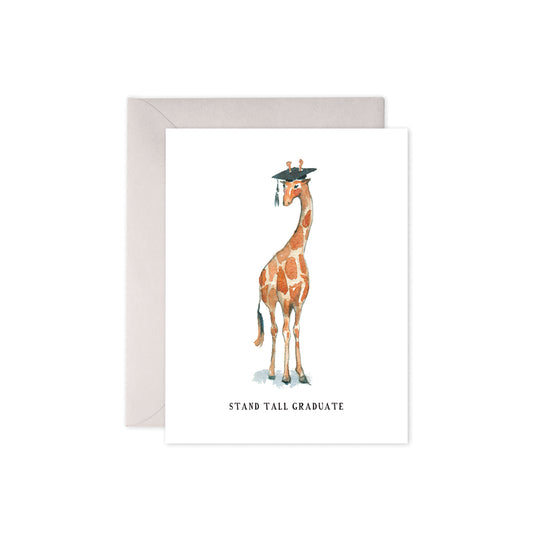 Stand Tall Graduate Card E. Frances - Foursided