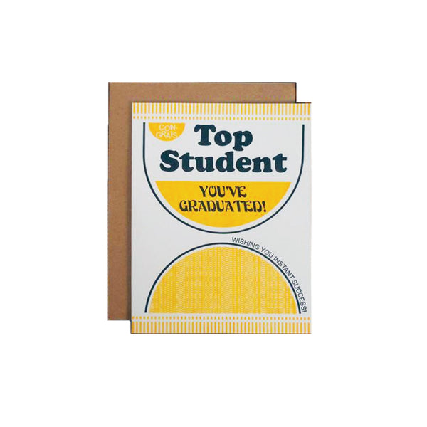 Top Student Card A. Favorite - Foursided