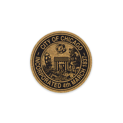 Chicago City Seal Coaster