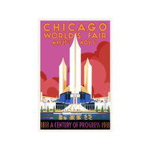 Chicago World's Fair Print Popcorn Movie Poster Co. - Foursided