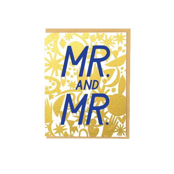 Mr. And Mr. Wedding Card Hello Lucky - Foursided