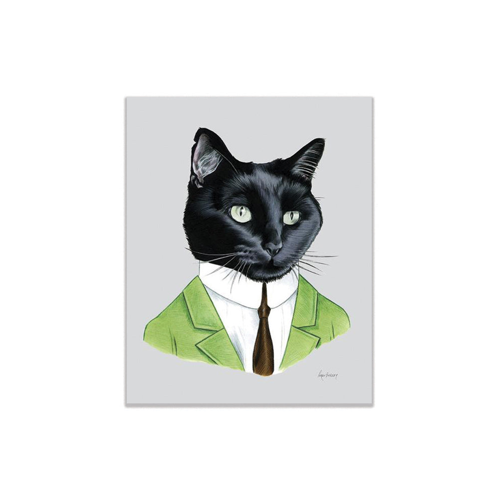 Black Cat Gentleman Print Buy Olympia - Foursided
