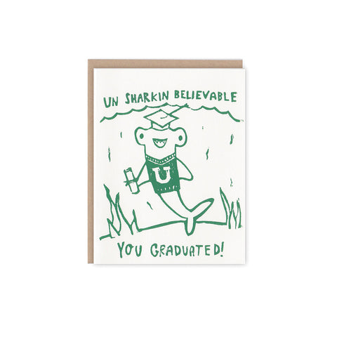 Un Sharkin Believable Grad Card