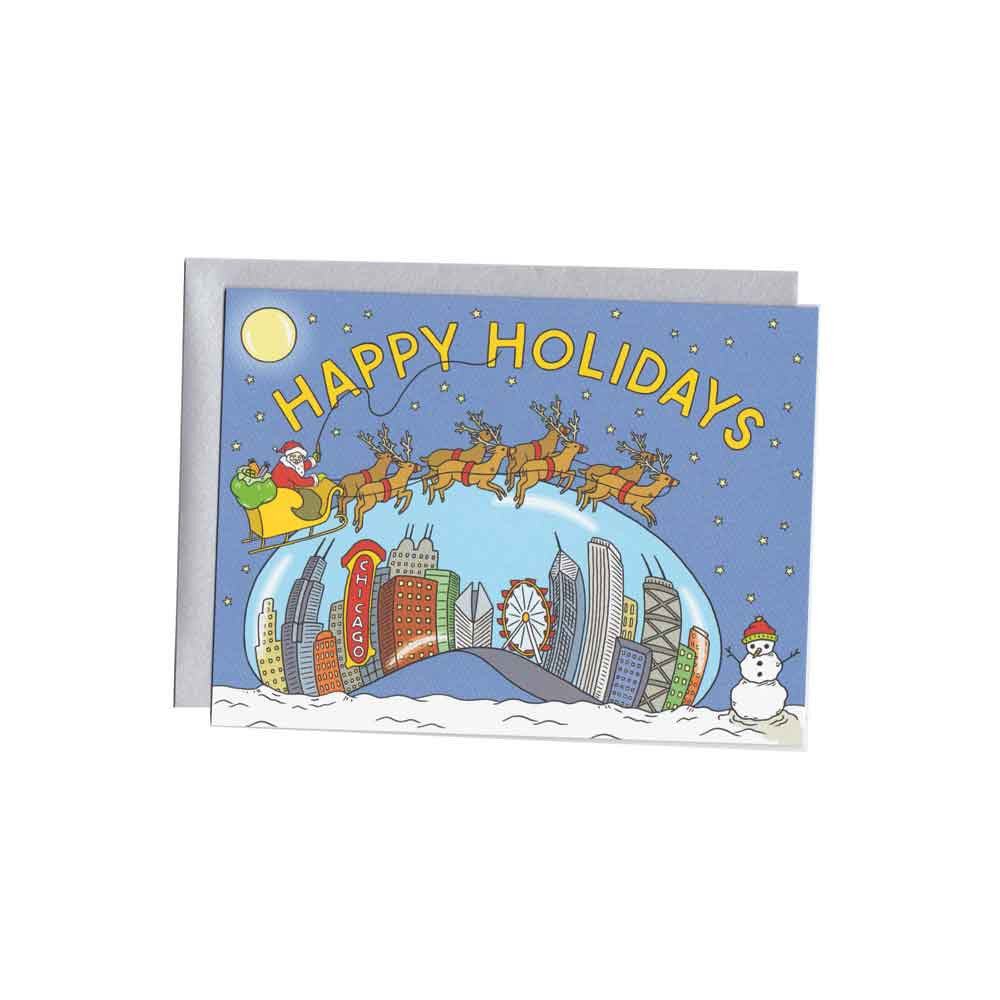 Chicago Bean Christmas Card Set (8) the Found - Foursided