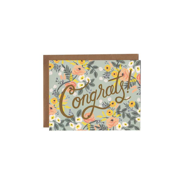 Floral Congrats Card Rifle Paper Co - Foursided