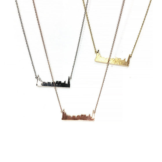 Chicago Skyline Necklace Love Emily D - Foursided