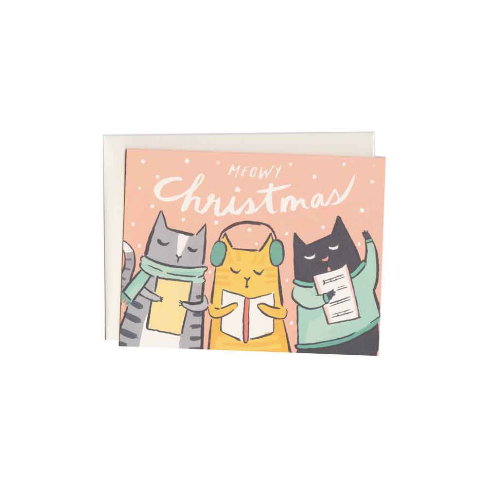 Meowy Christmas Card Set (8) Idlewild Co. - Foursided