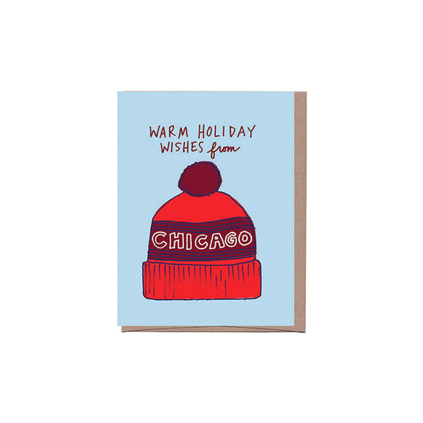 Chicago Hat Holiday Card Set (8) La Familia Green - Foursided