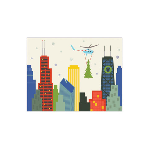 Chicago Tree Drop Card Set (8)