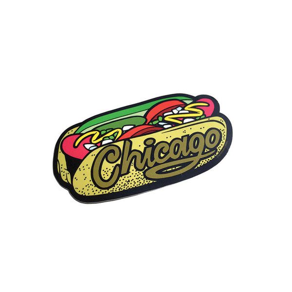 Chicago Hot Dog Sticker - Foursided - Travis Clement