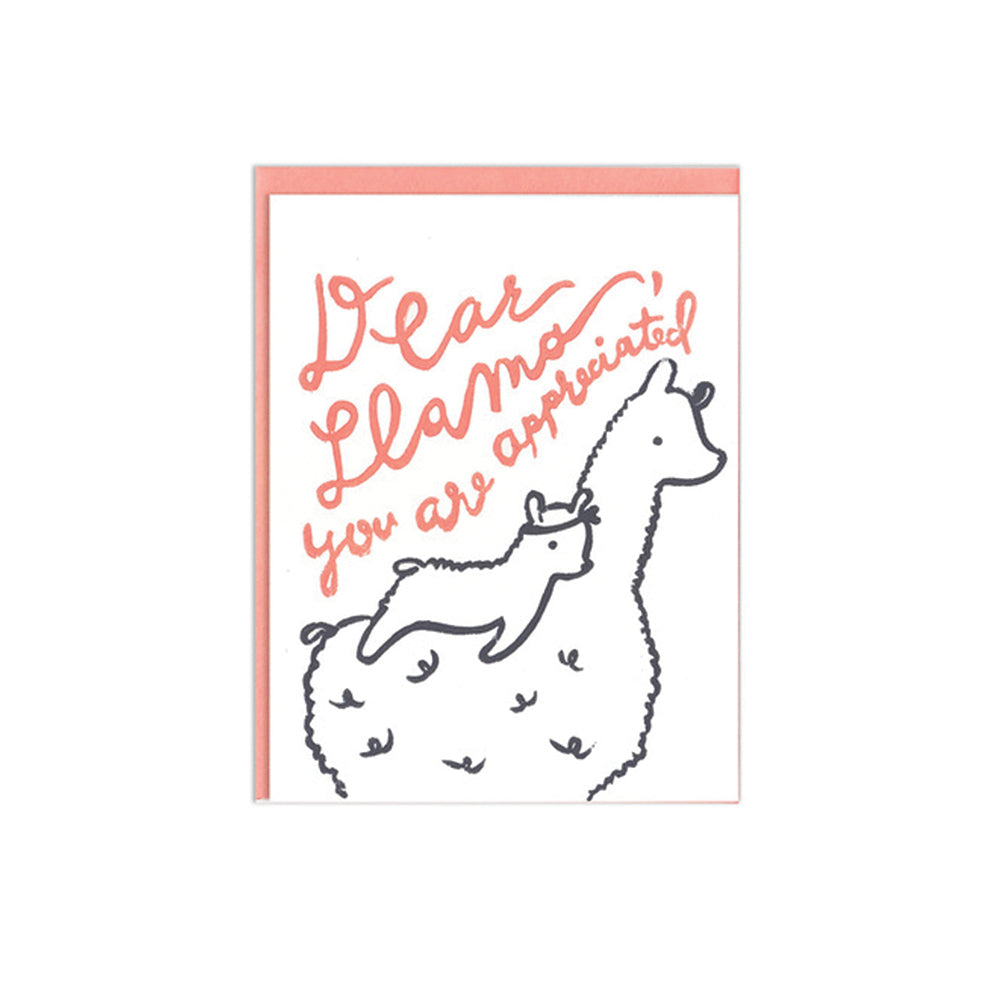 Dear Llama Mom Card Ghost Academy - Foursided