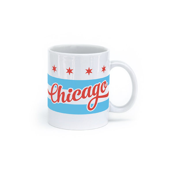 Chicago Flag Mug Seltzer - Foursided