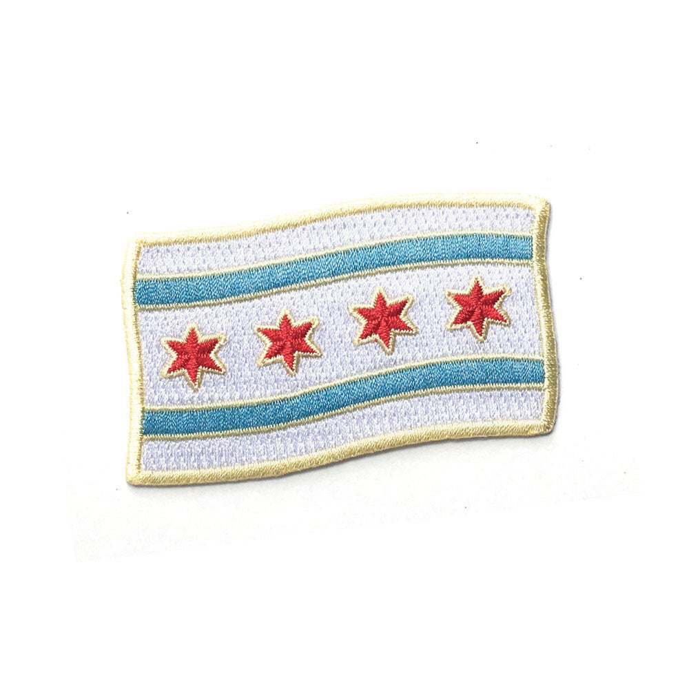 Chicago Flag Patch - Foursided - the Found